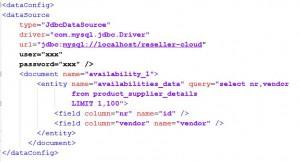 SOLR data-config.xml Beispiel