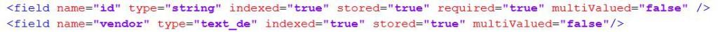 SOLR schema.xml Beispiel