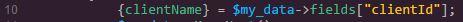 sc_select Beispiel mit Feld-Name