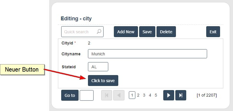 Scriptcase button to save placed within a form